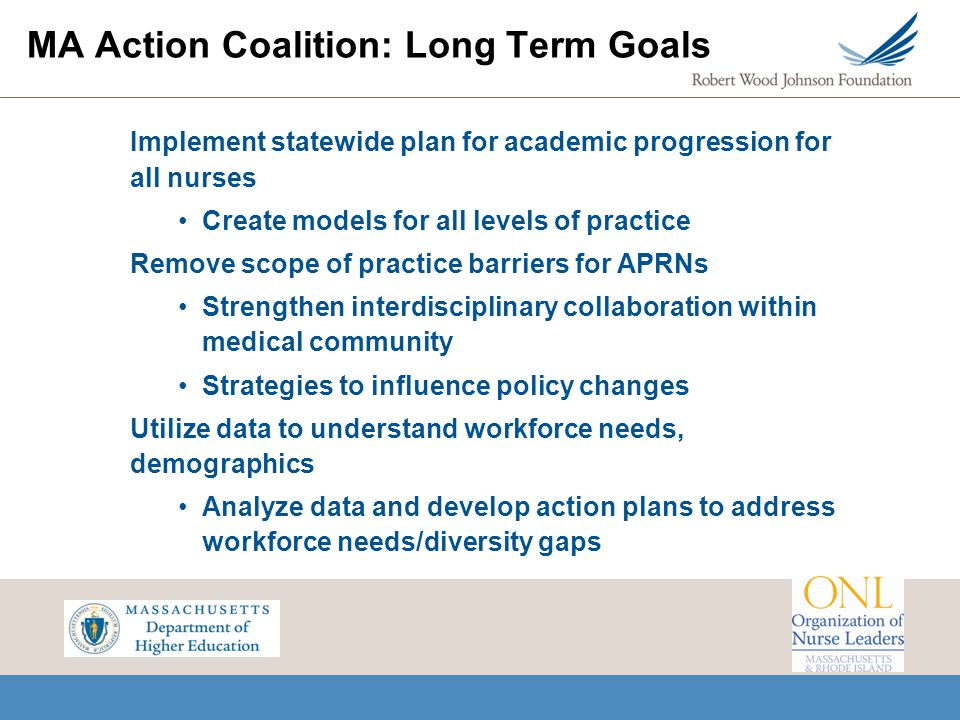 MA Action Coalition: Long Term Goals
