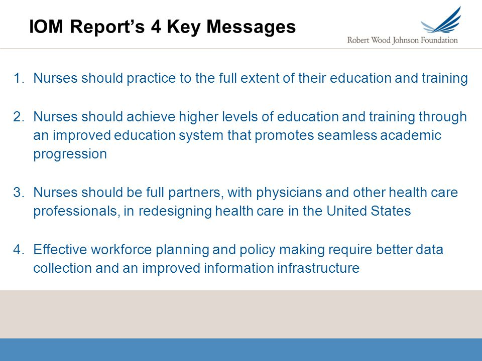 IOM Report's 4 Key Messages