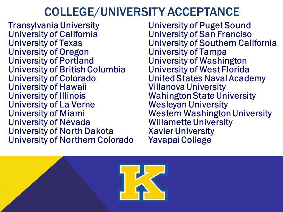 College/University Acceptance