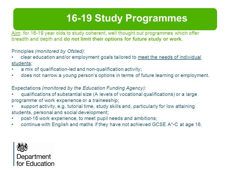 16-19 Study Programmes