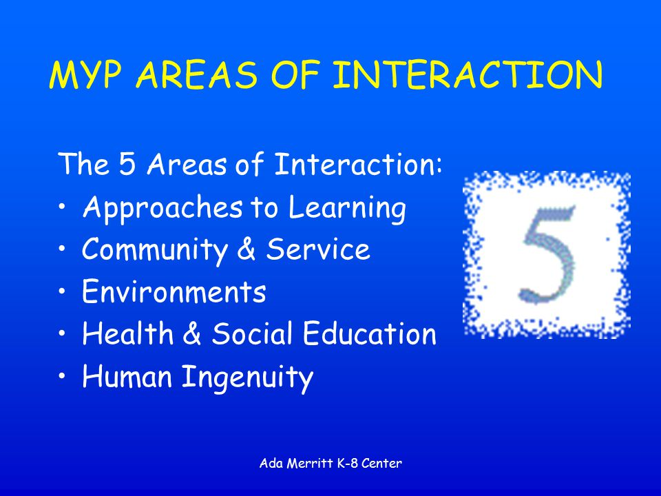 MYP AREAS OF INTERACTION