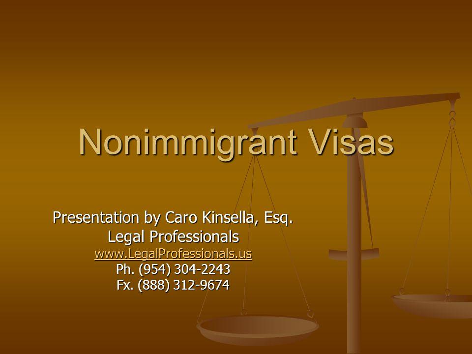 Presentation by Caro Kinsella, Esq.