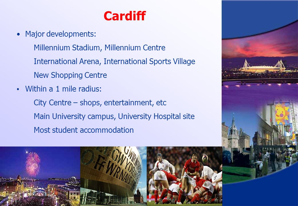 Cardiff Major developments: Millennium Stadium, Millennium Centre