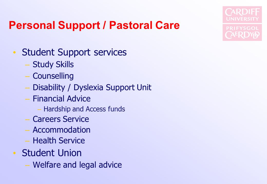 Personal Support / Pastoral Care