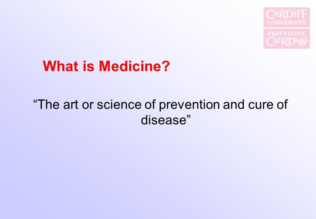 The art or science of prevention and cure of disease