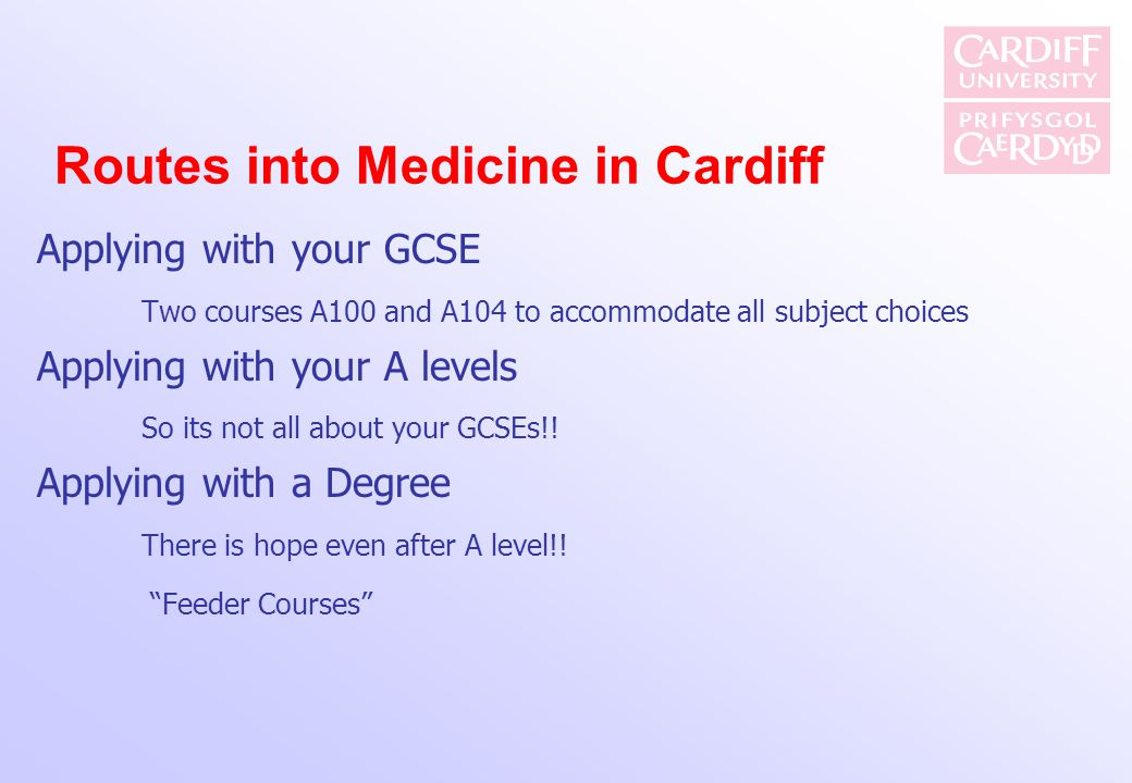 Routes into Medicine in Cardiff