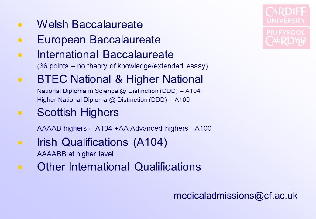 European Baccalaureate International Baccalaureate