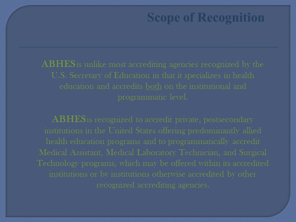 Scope of Recognition