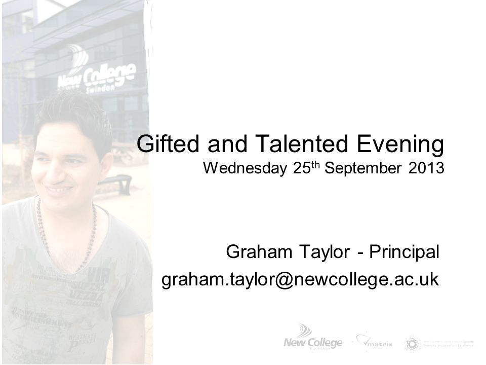 Gifted and Talented Evening Wednesday 25th September 2013