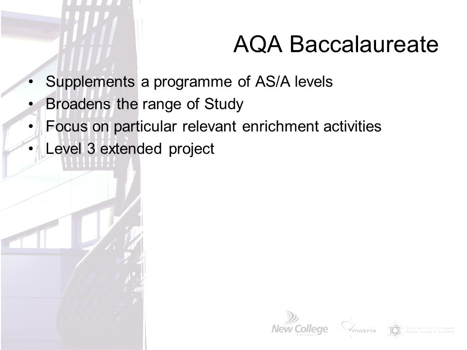 AQA Baccalaureate Supplements a programme of AS/A levels