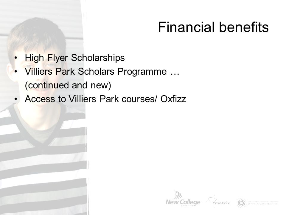 Financial benefits High Flyer Scholarships