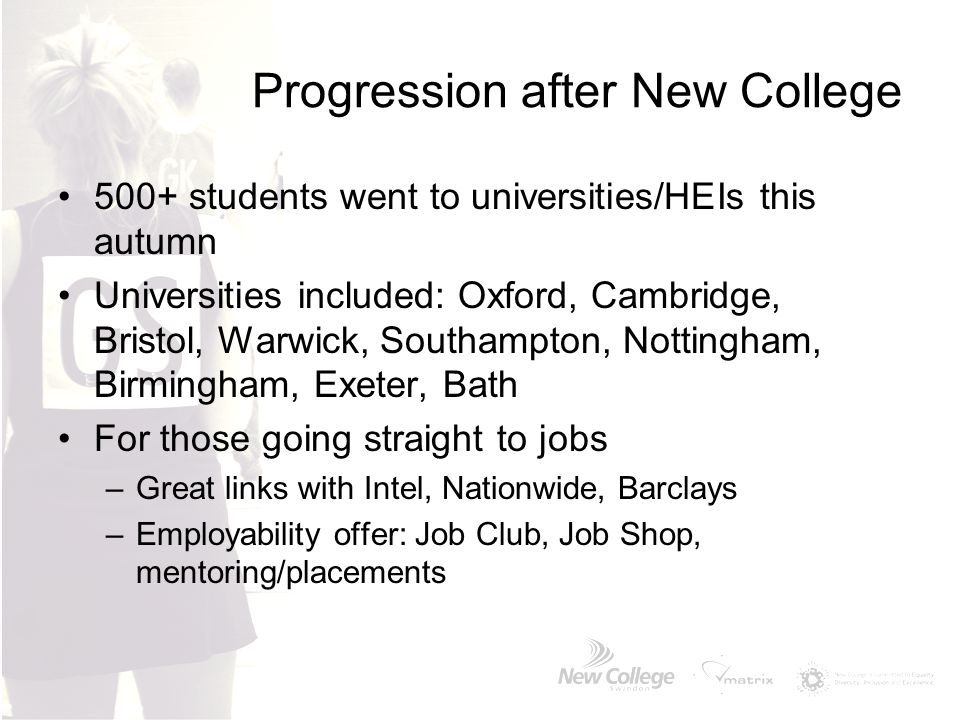 Progression after New College