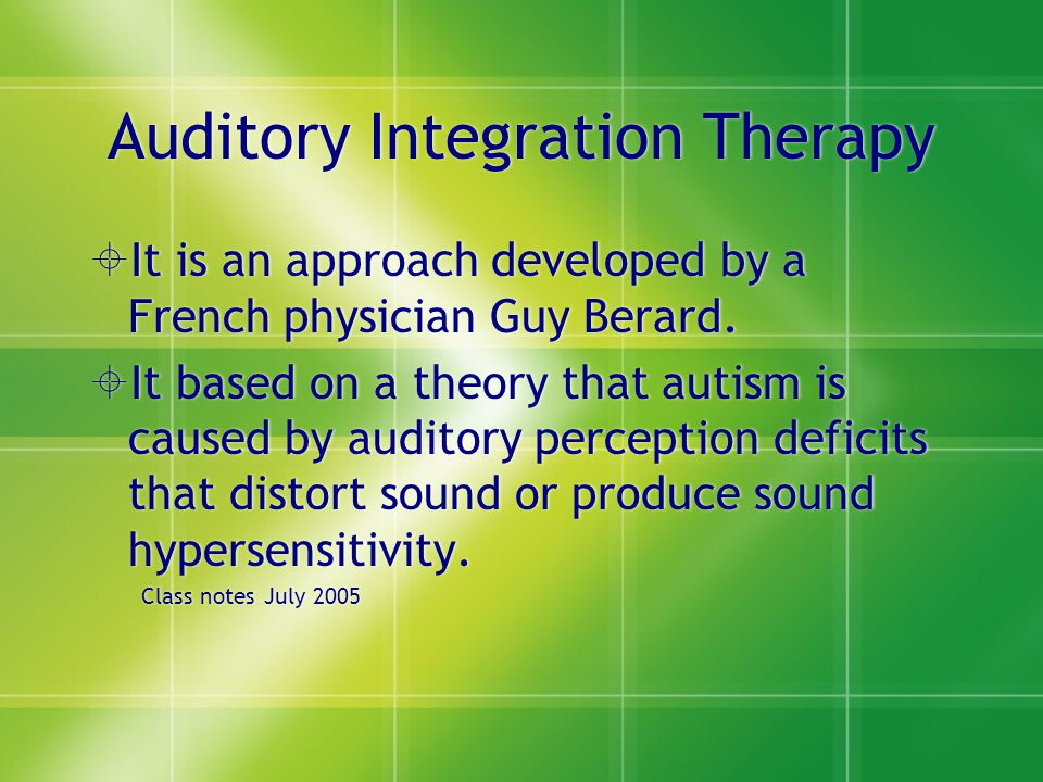 Auditory Integration Therapy