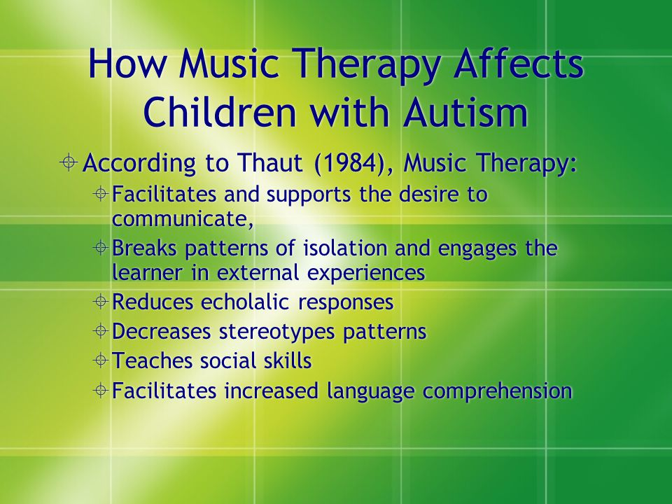 How Music Therapy Affects Children with Autism