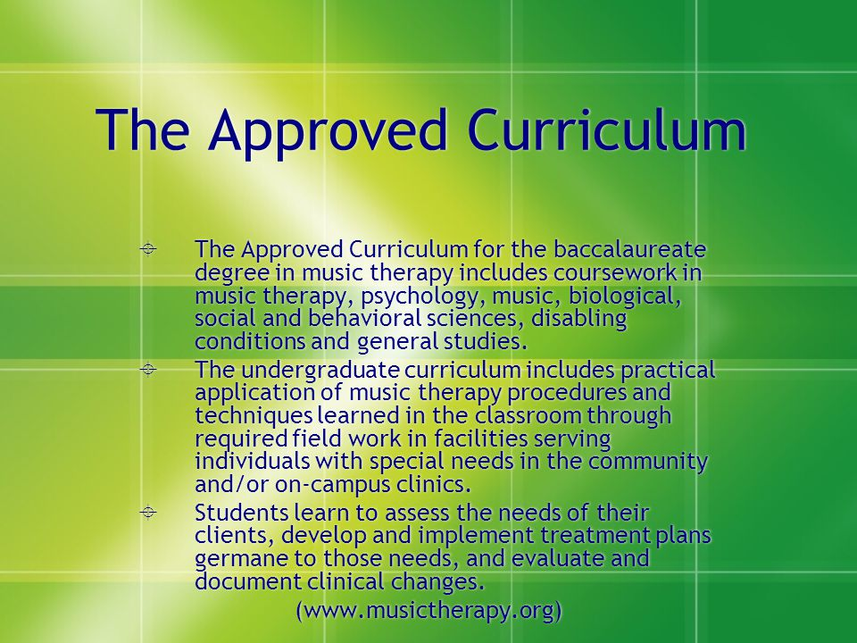 The Approved Curriculum