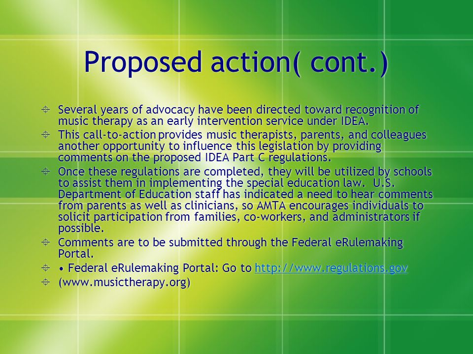 Proposed action( cont.)
