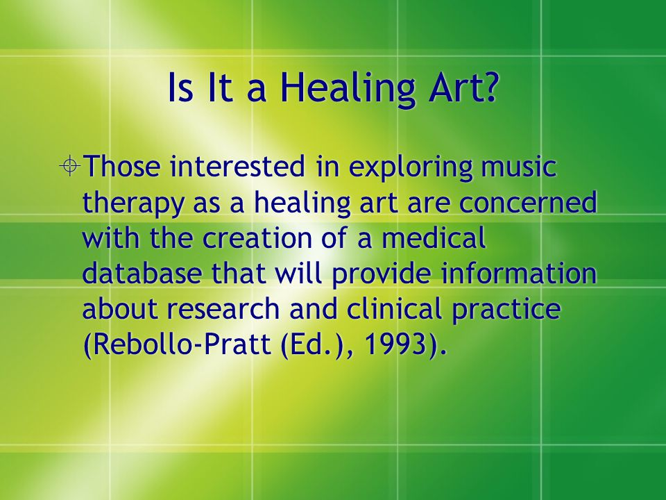 Is It a Healing Art