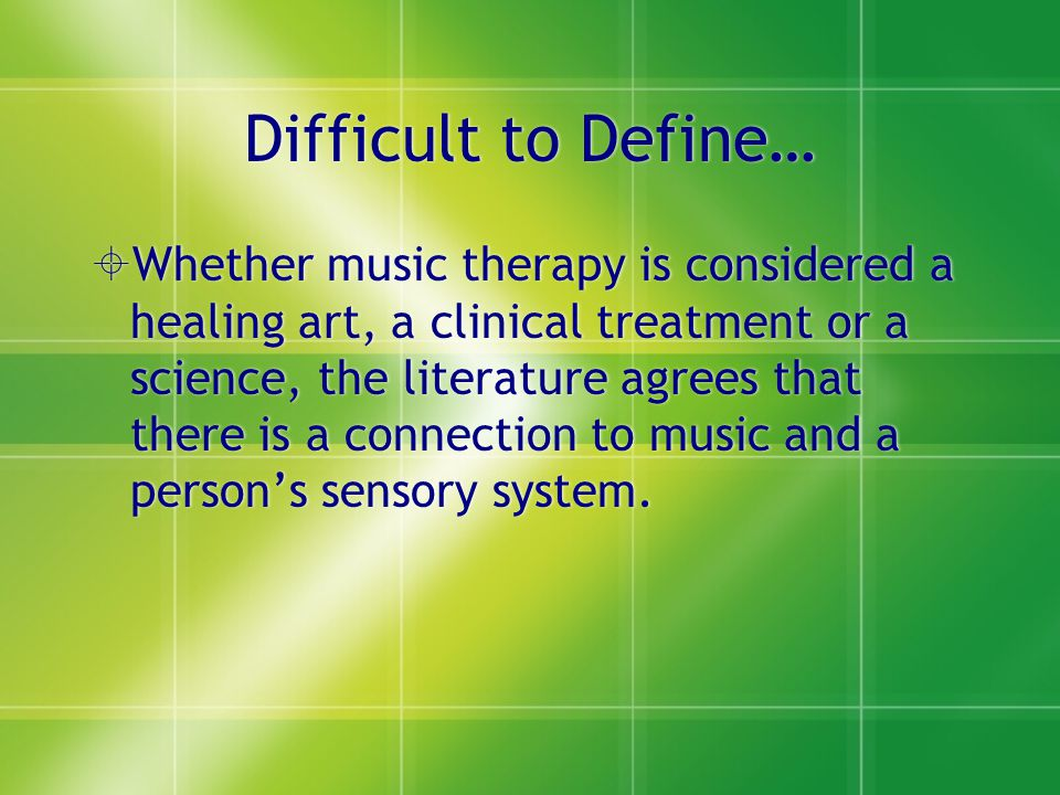 Difficult to Define…