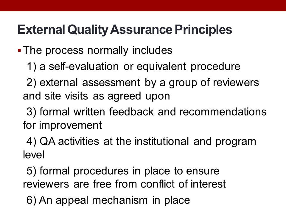 Principle of assessment and evaluation