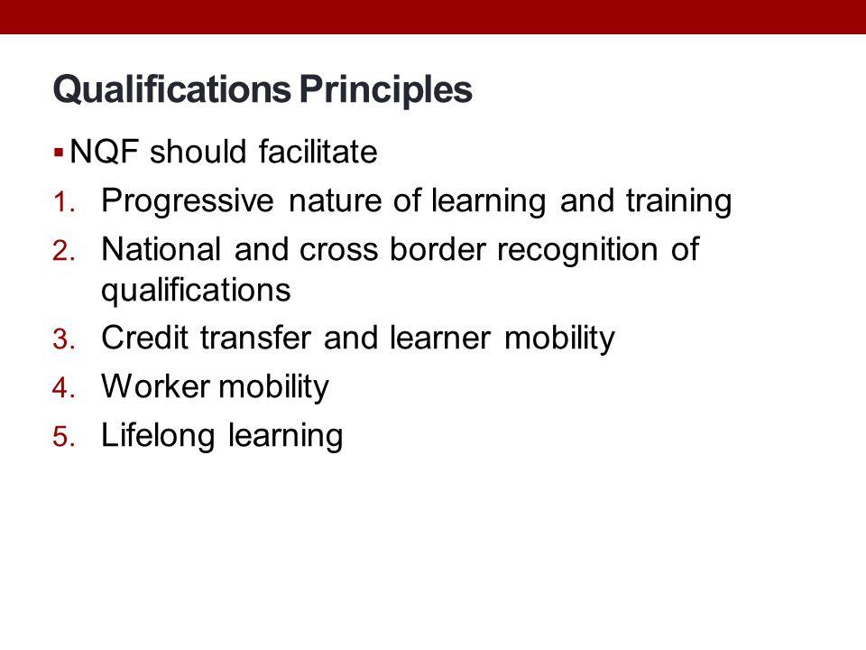 Qualifications Principles