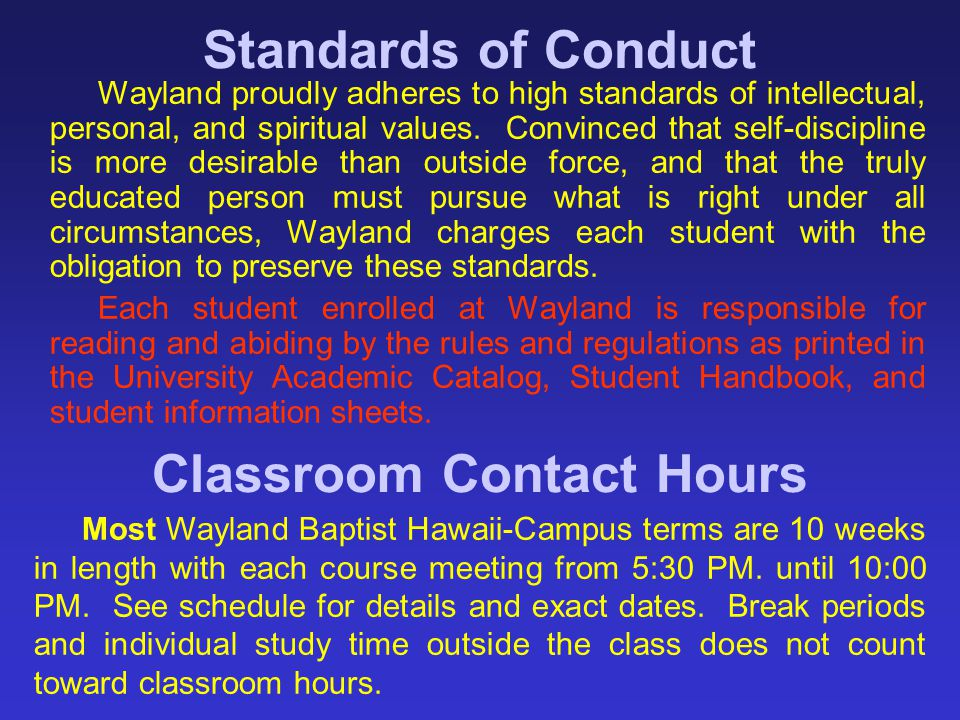 Classroom Contact Hours
