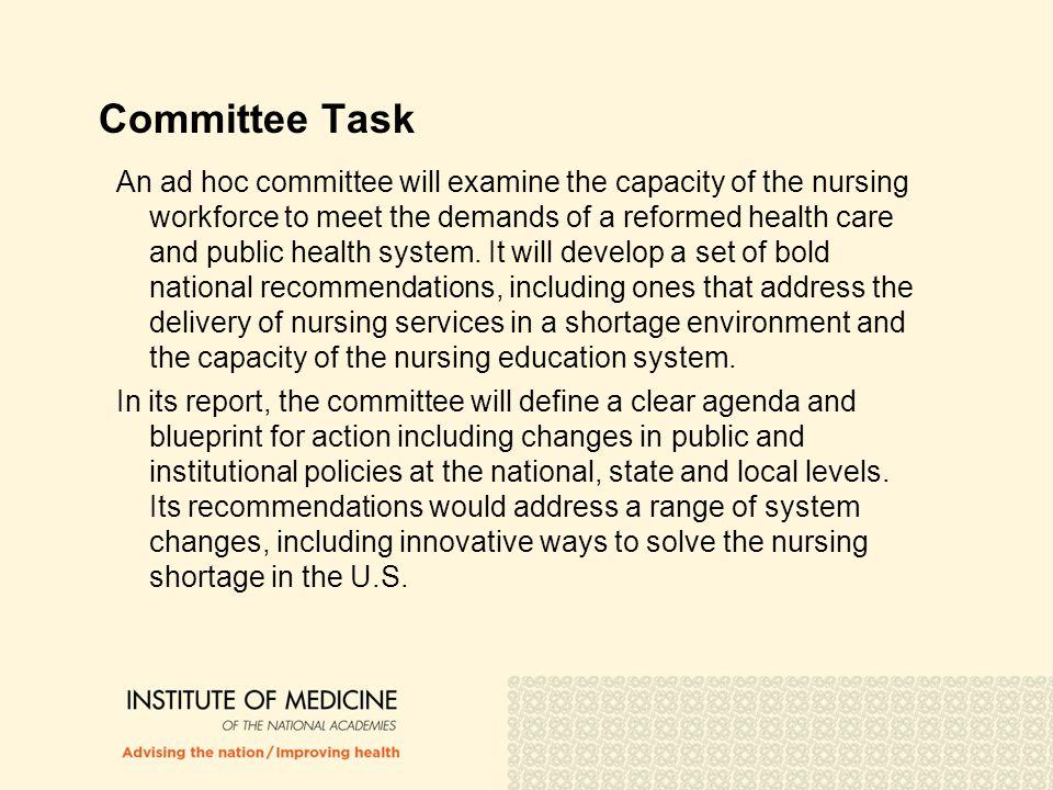 Committee Task