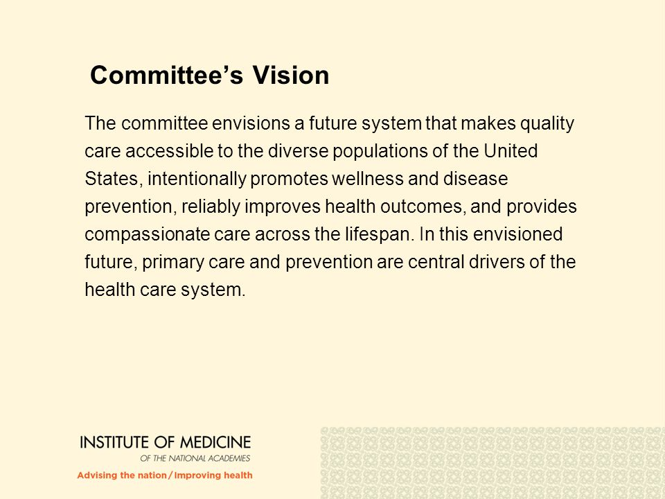 Committee's Vision