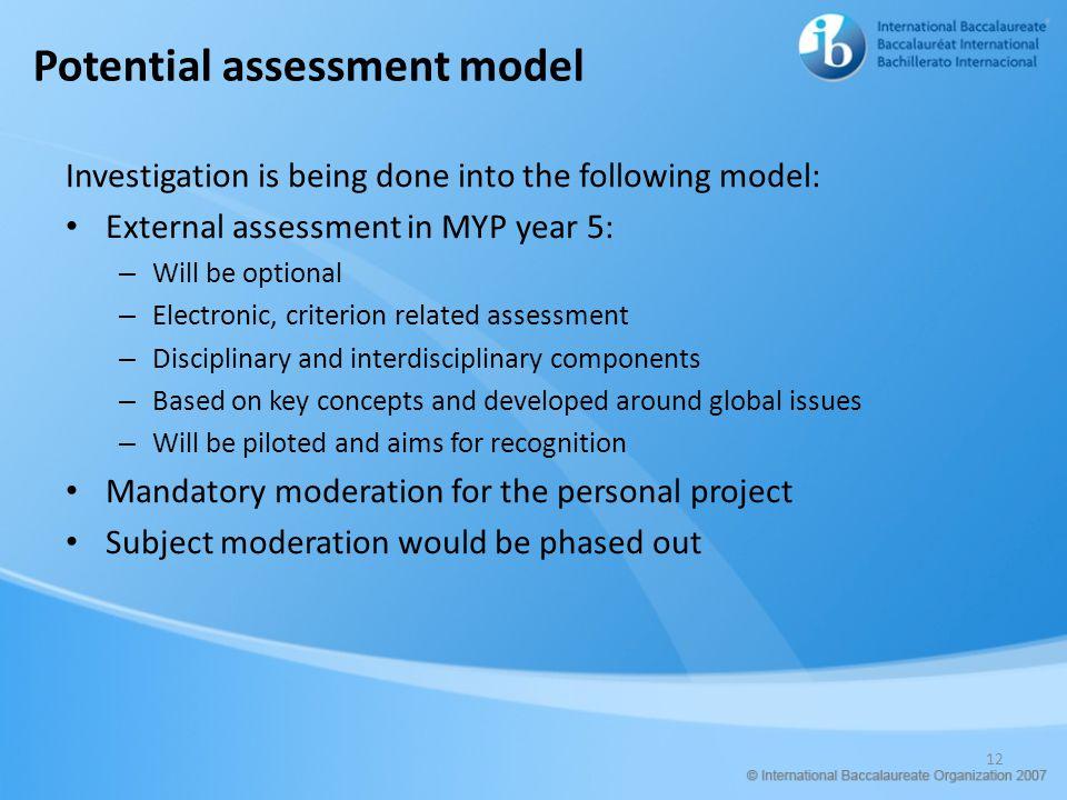 Potential assessment model