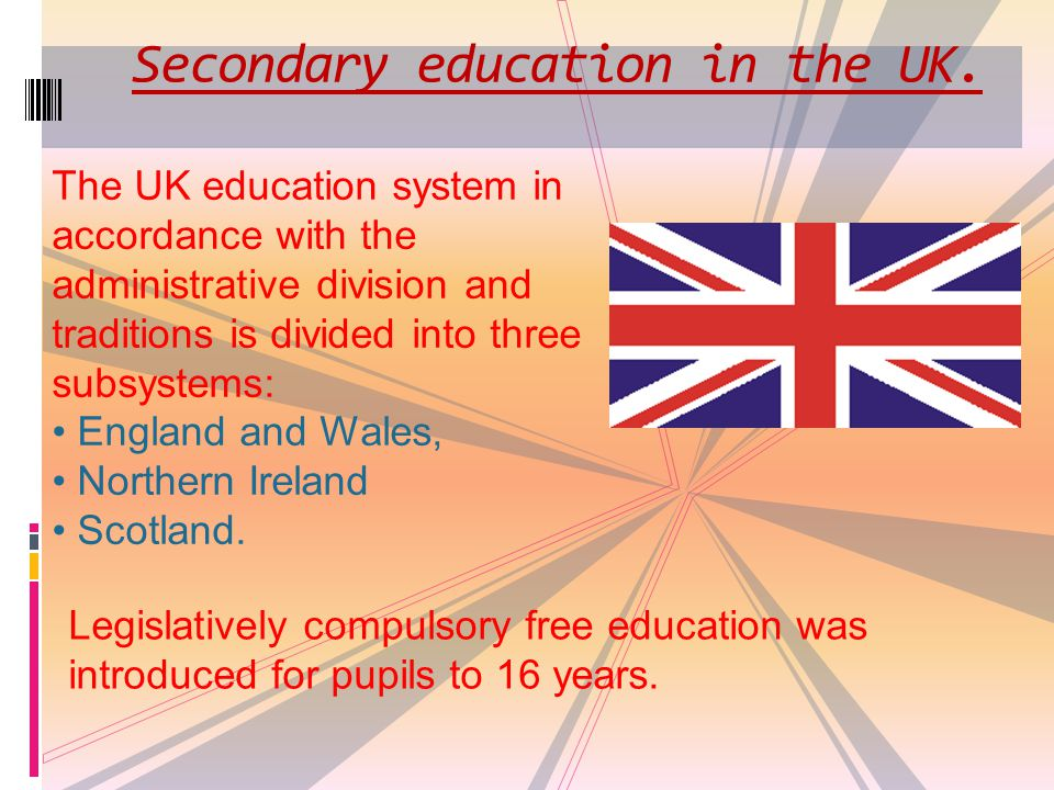 Secondary education in the UK.