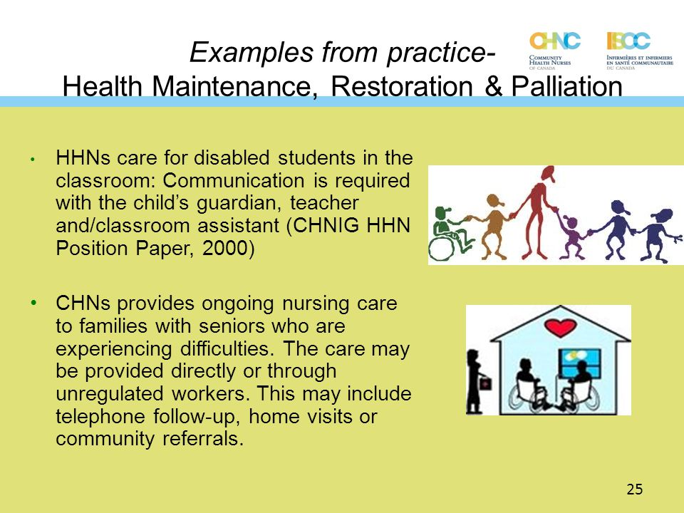 Examples from practice- Health Maintenance, Restoration & Palliation