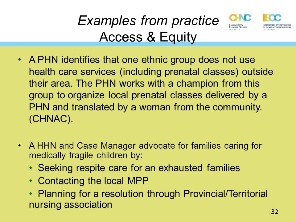 Examples from practice Access & Equity