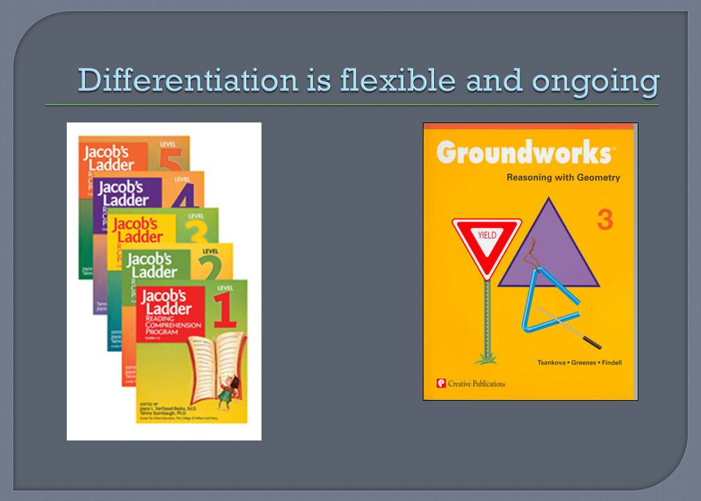 Differentiation is flexible and ongoing