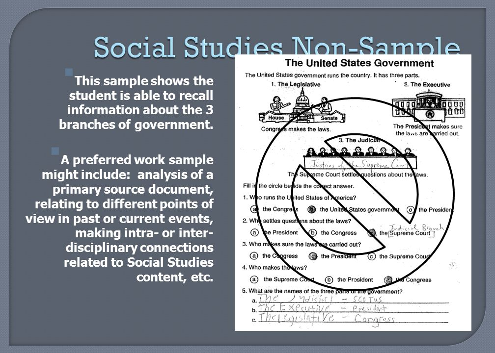 Social Studies Non-Sample