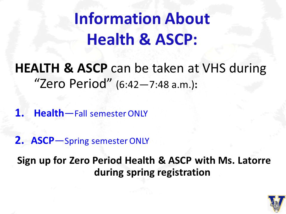 Information About Health & ASCP: