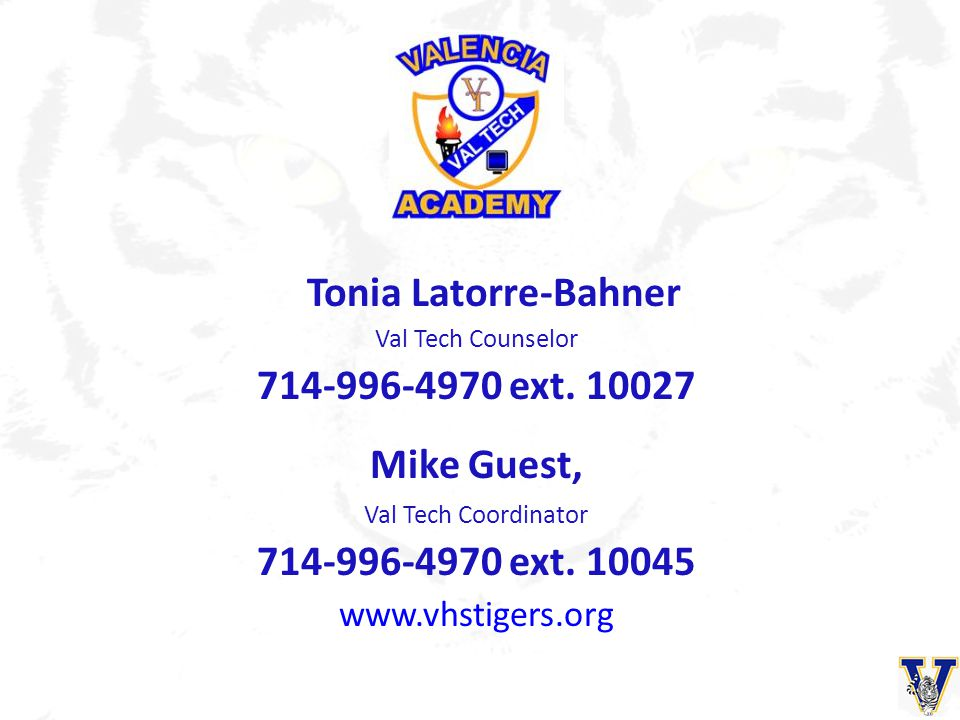 Tonia Latorre-Bahner 714-996-4970 ext. 10027 Mike Guest,