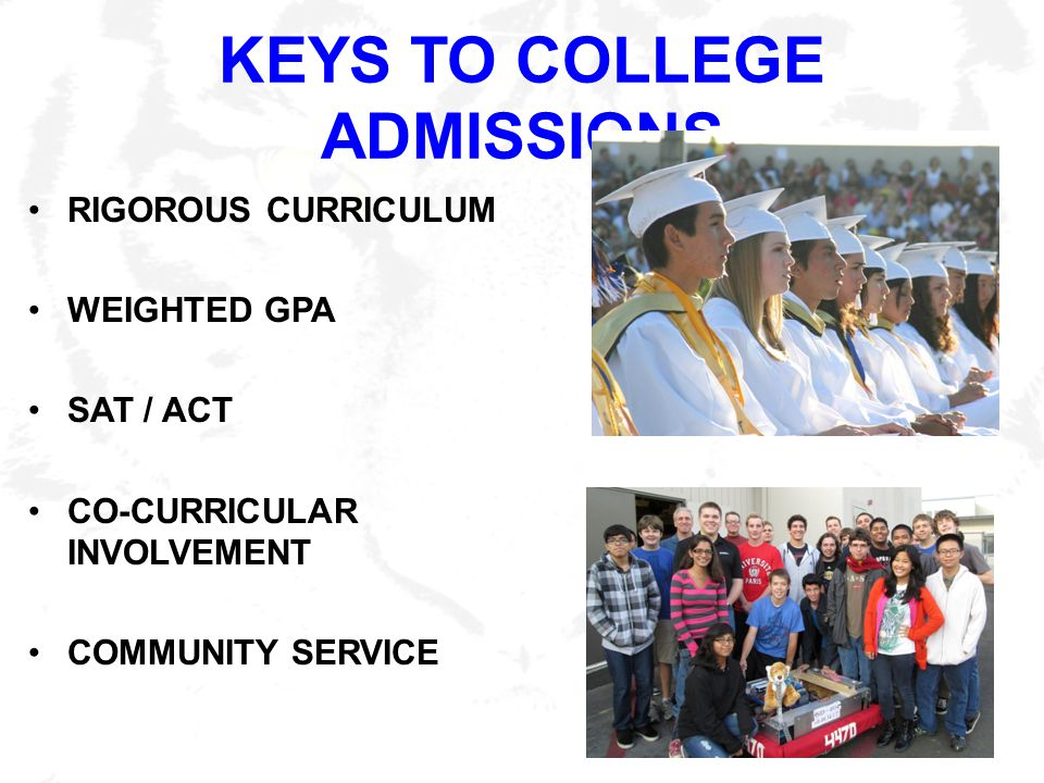 KEYS TO COLLEGE ADMISSIONS