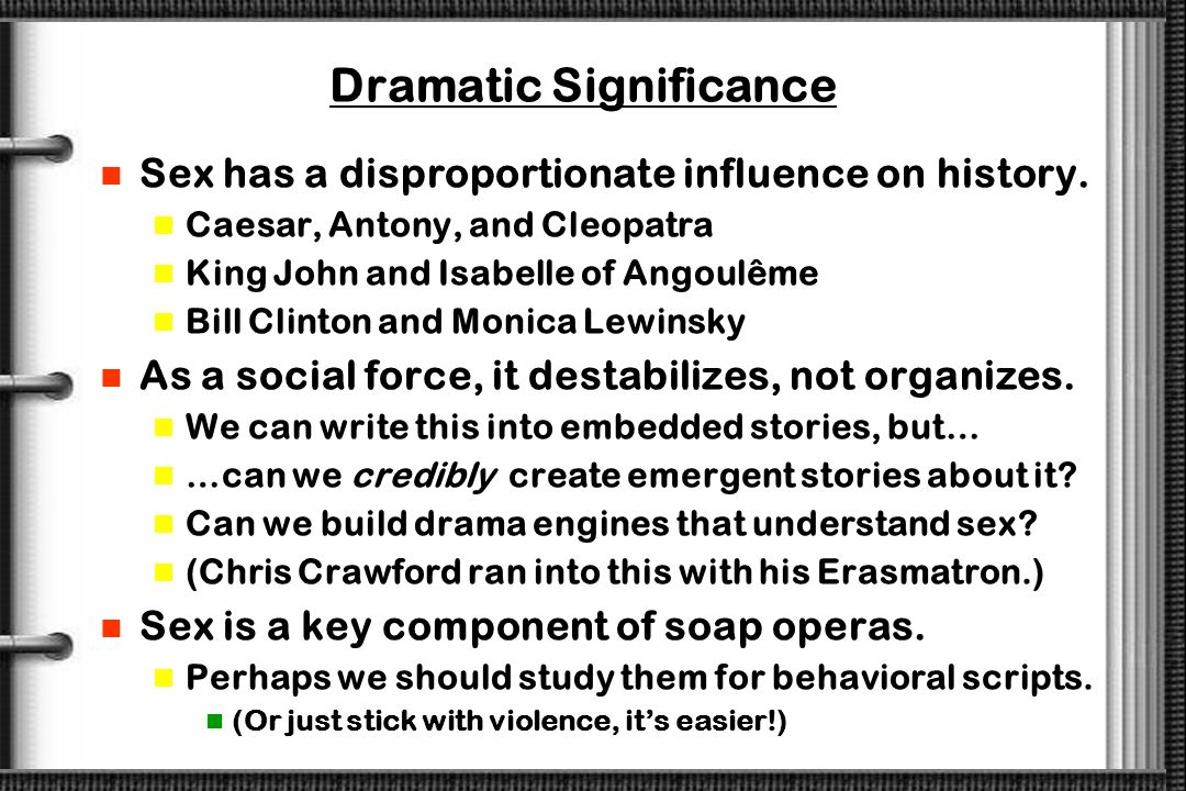 Dramatic Significance