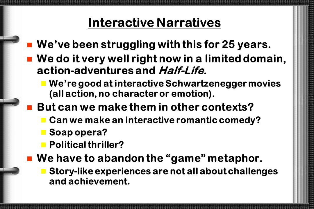 Interactive Narratives