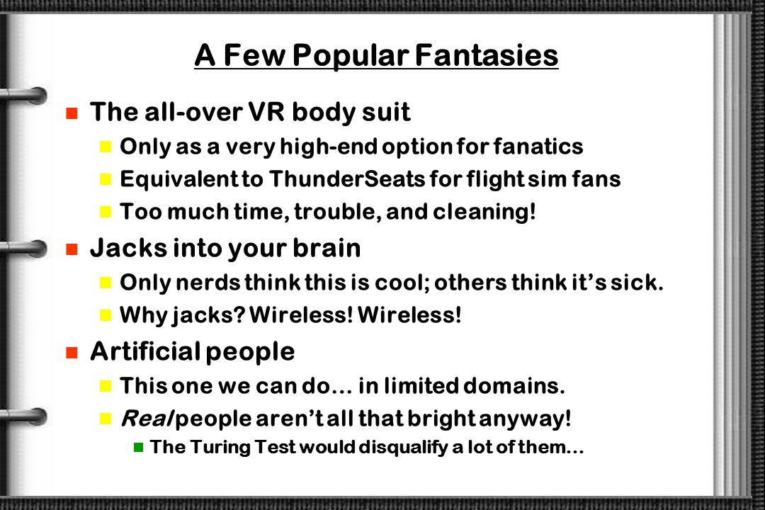 A Few Popular Fantasies