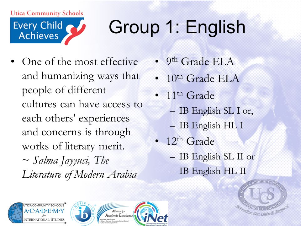 Group 1: English
