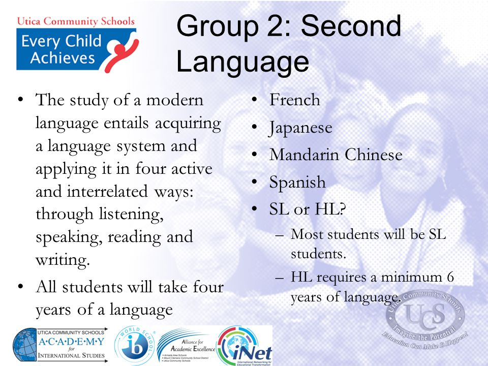 Group 2: Second Language
