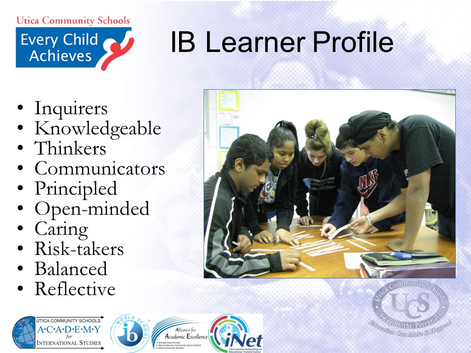 IB Learner Profile Inquirers Knowledgeable Thinkers Communicators