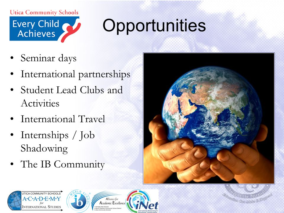 Opportunities Seminar days International partnerships