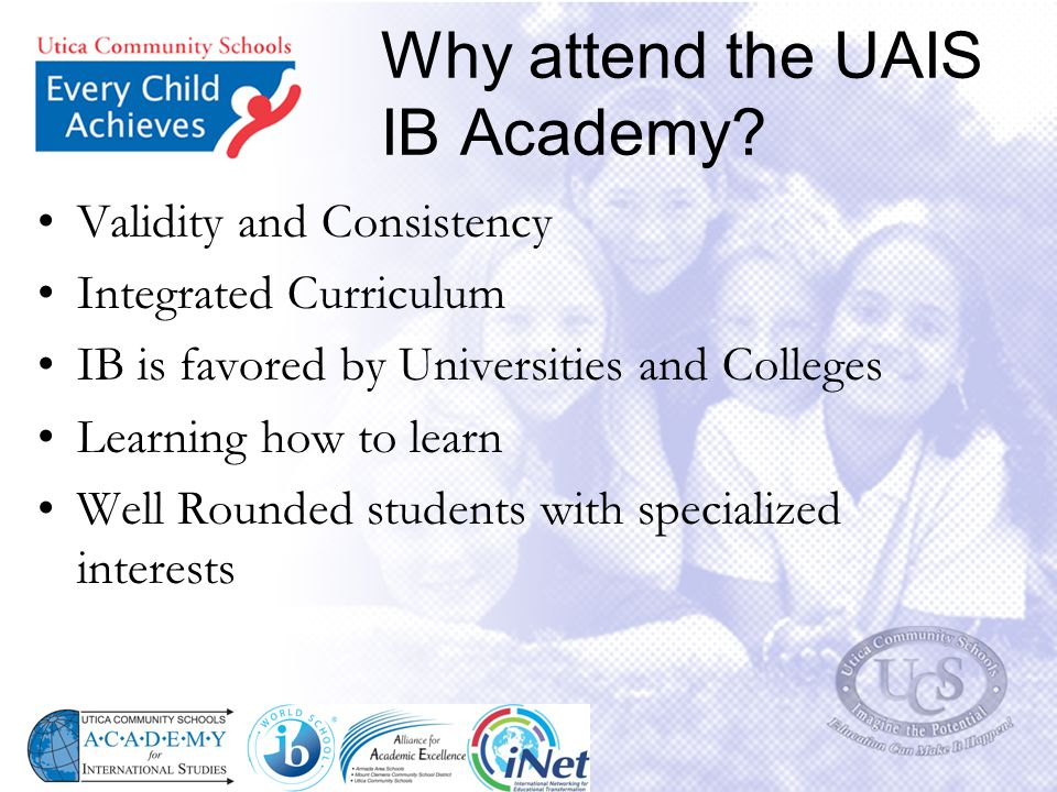 Why attend the UAIS IB Academy