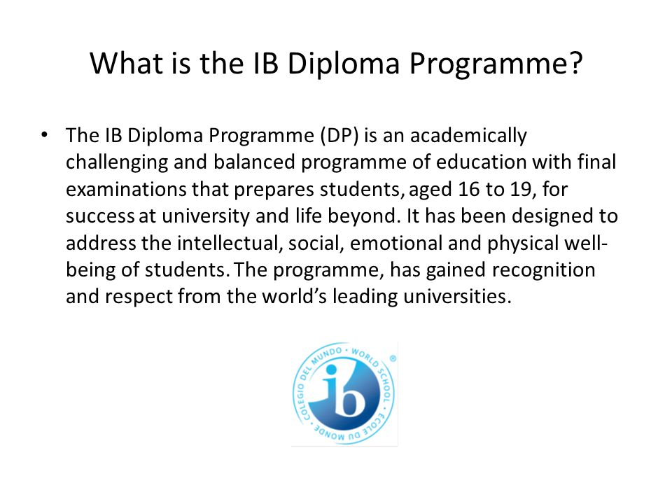 What is the IB Diploma Programme