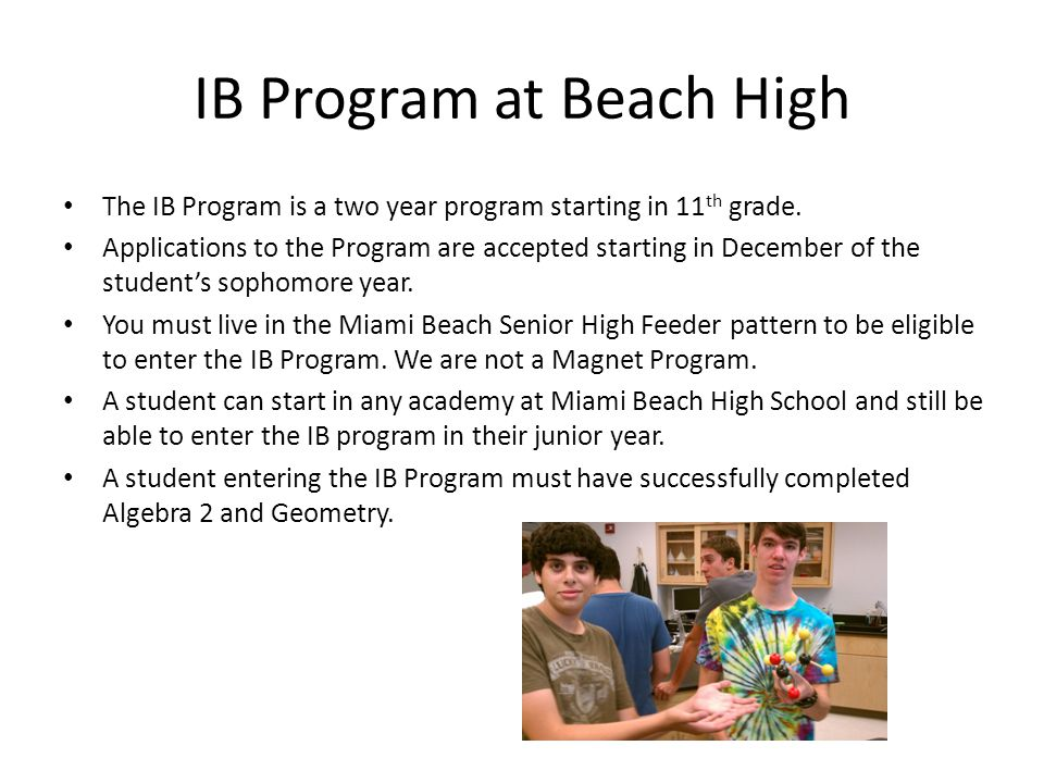 IB Program at Beach High