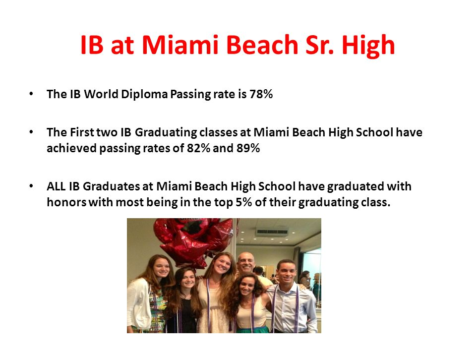 IB at Miami Beach Sr. High