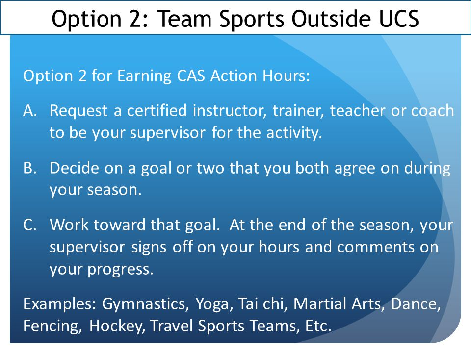 Option 2: Team Sports Outside UCS