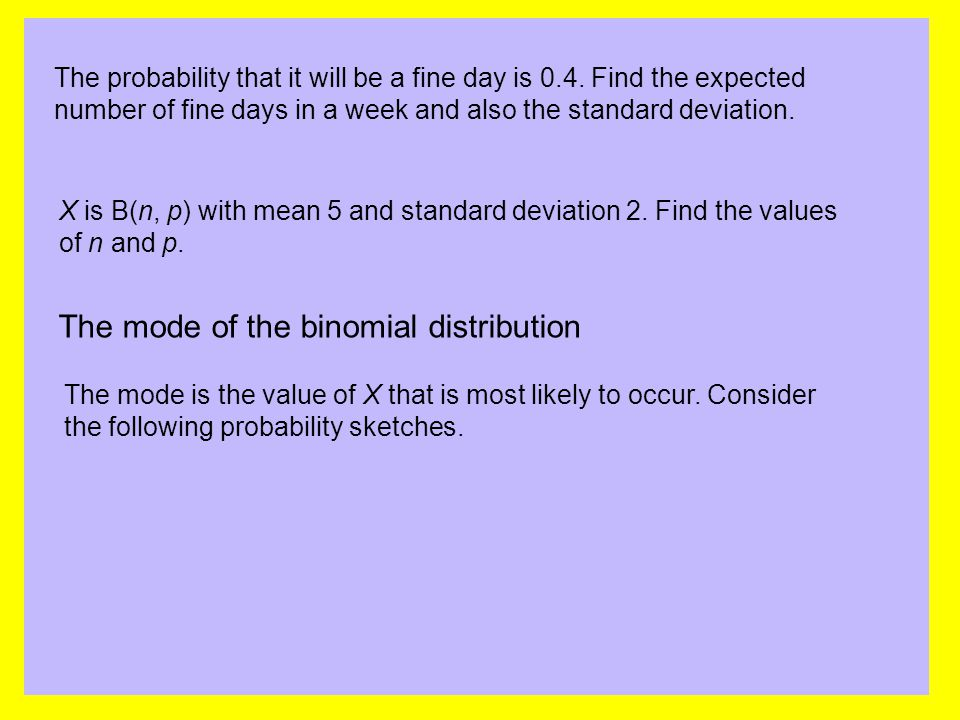 The mode of the binomial distribution