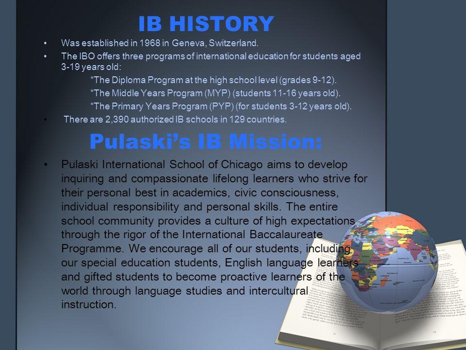 IB HISTORY Pulaski's IB Mission: